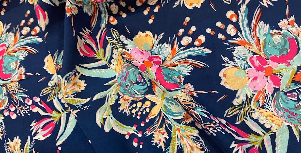 Art Gallery Fabrics Coquet Bouquet Splendid Oeko-Tex Rayon 70cm piece...