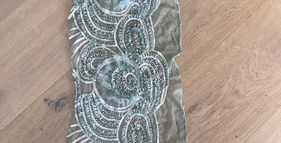 Seafoam lace piece #11