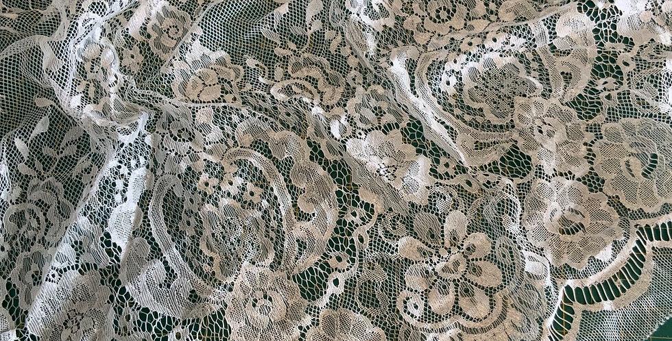 Ivory Eyelash Lace Piece #4003