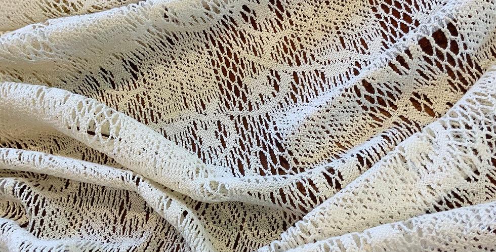 Boho Ivory Cotton crochet Lace....