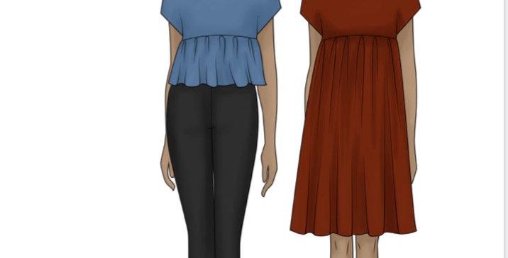 vandenberg fashion lynne top and dress printed pattern
