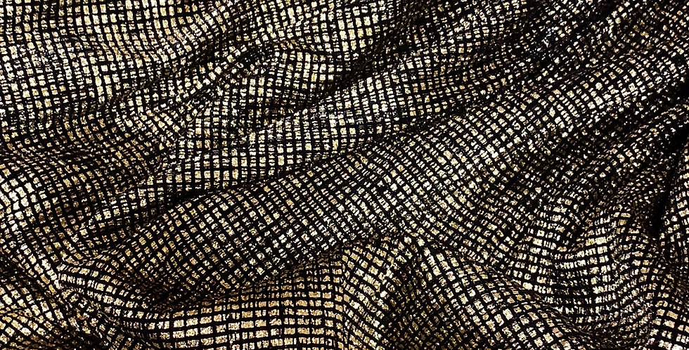 Golden Sunset Foil Sheer Mesh Knit...