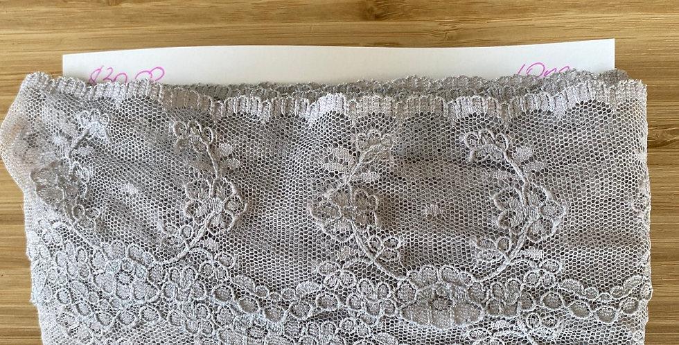 grey mist nylon lace remnant