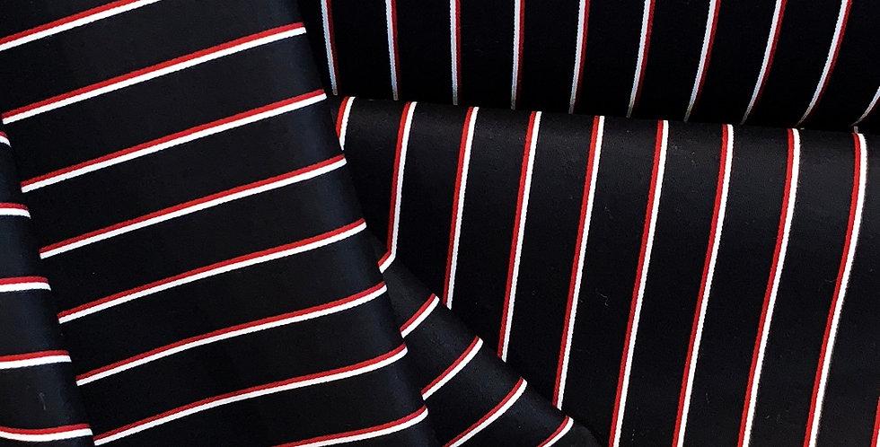 Dallas Stripe Stretch Cotton Sateen