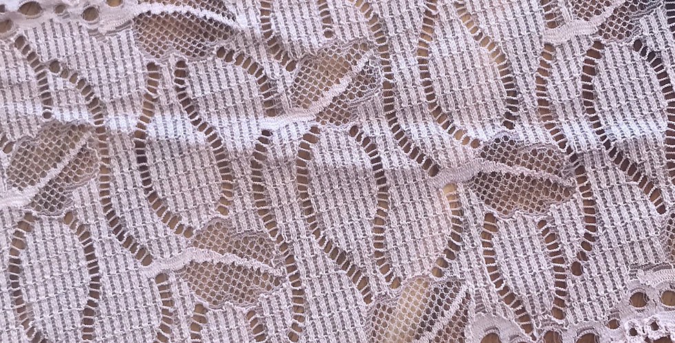 Genevieve Dusty Mocha Pink Hand Dyed Stretch Lace...