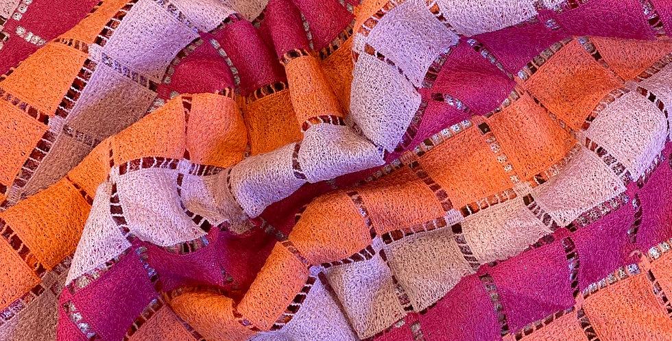 mod squad check guipure lace remnant