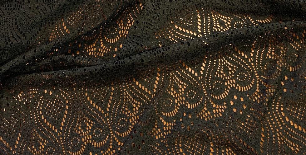 Poppy Black Stretch Lace