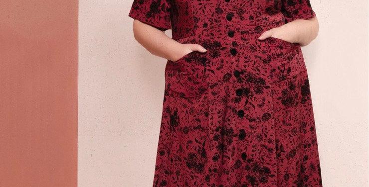 friday pattern company hughes dress printed pattern (new sizing)