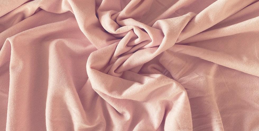 Powder pink viscose jersey