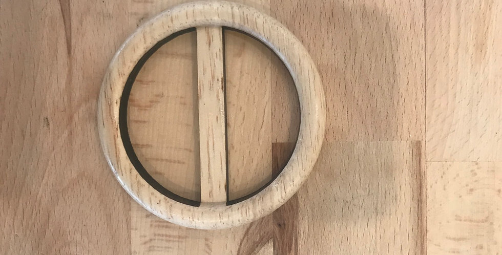 Large timber belt buckle
