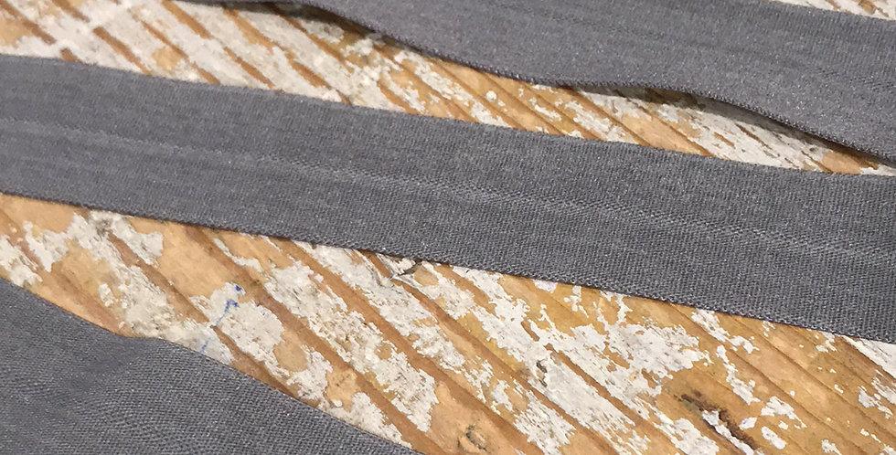 Grey matte foldover elastic...