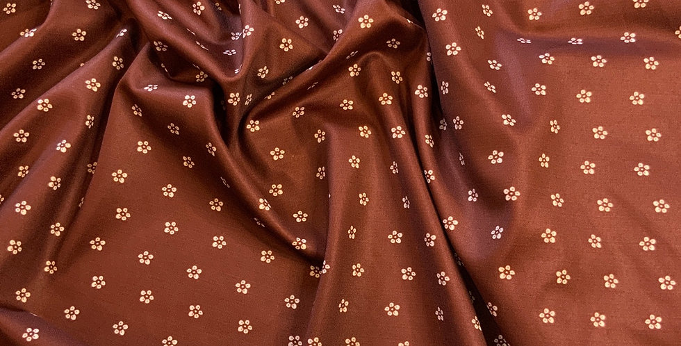 Chocolate Daisies Spandex Remnant