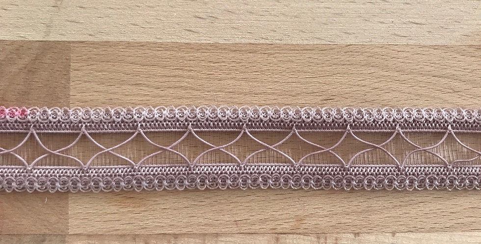 Crossed decorative strapping dusty rose