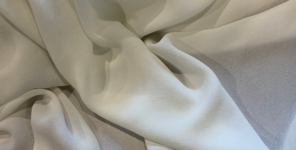 Ivory Polyester Crepe Georgette...
