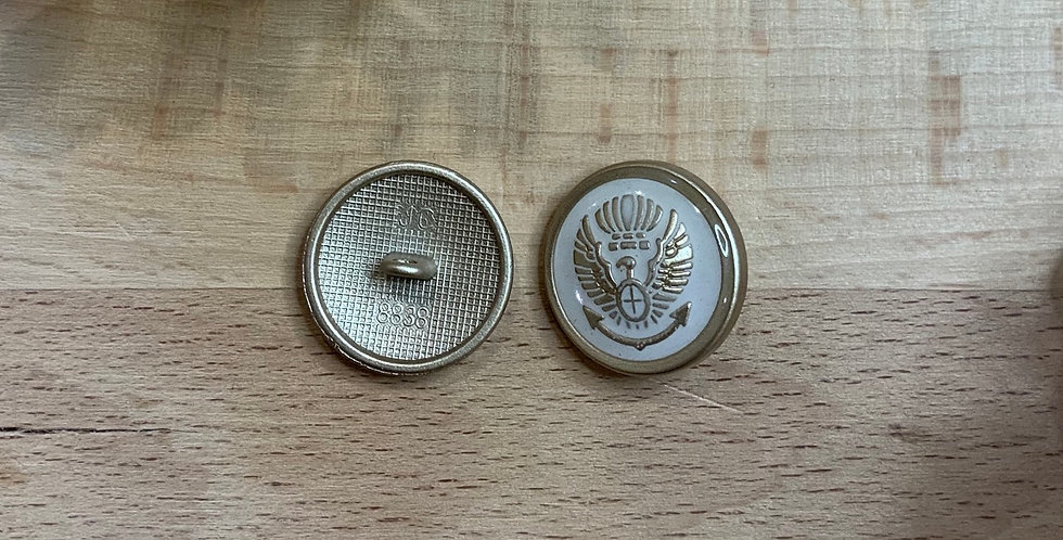Ivory Eagle Metal Shank Button