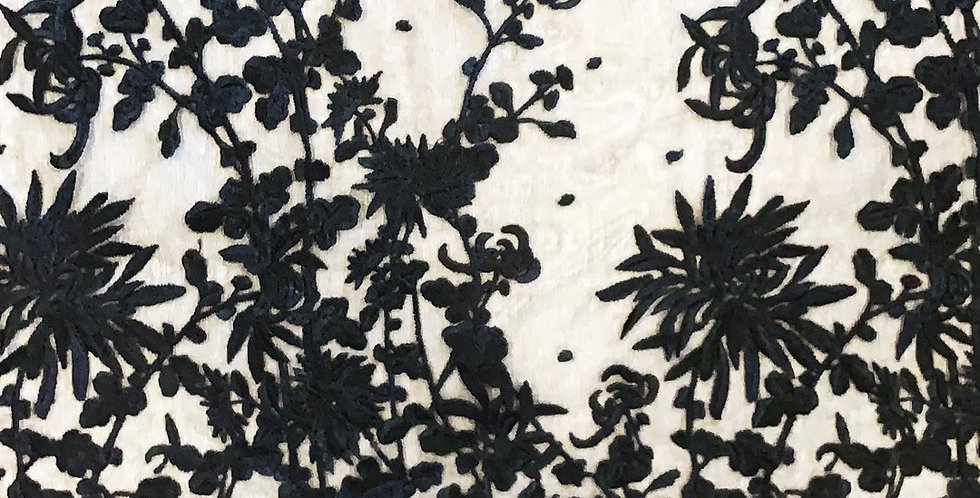 Scatter Garden Embroidered Silk Organza
