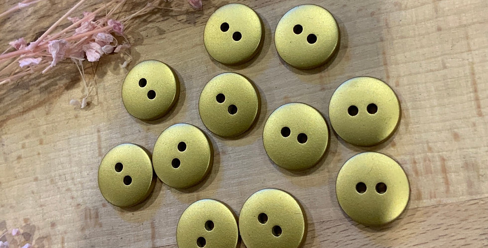 11 Gold Buttons