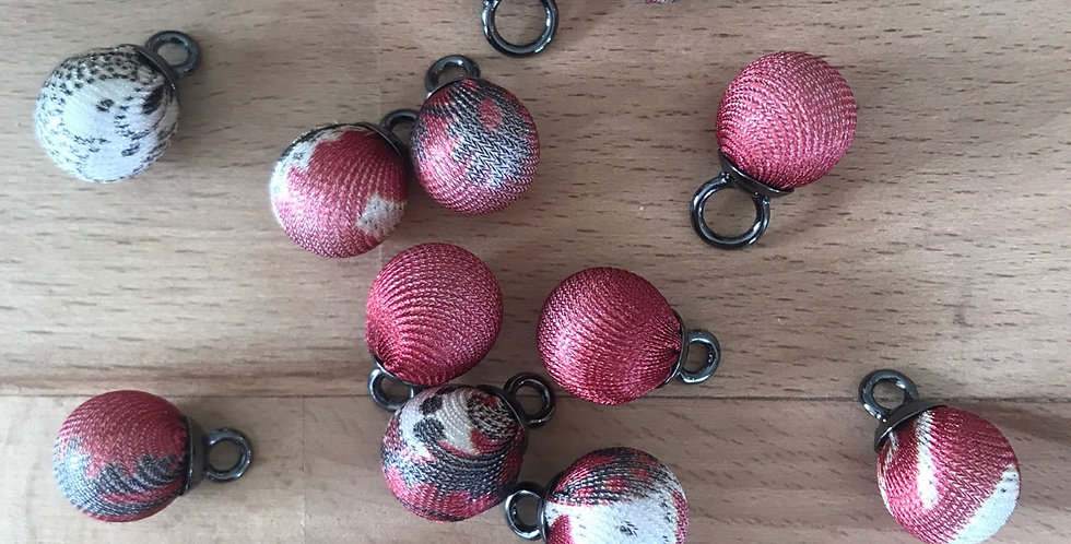 Fabric covered ball charms firebrand