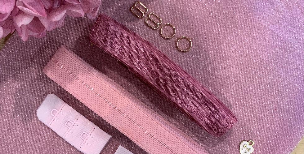 Mottled Berry Hand Dyed Lily Bralette Kit…