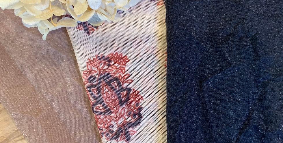 Black Block Print 3Pack Lingerie Fabrics