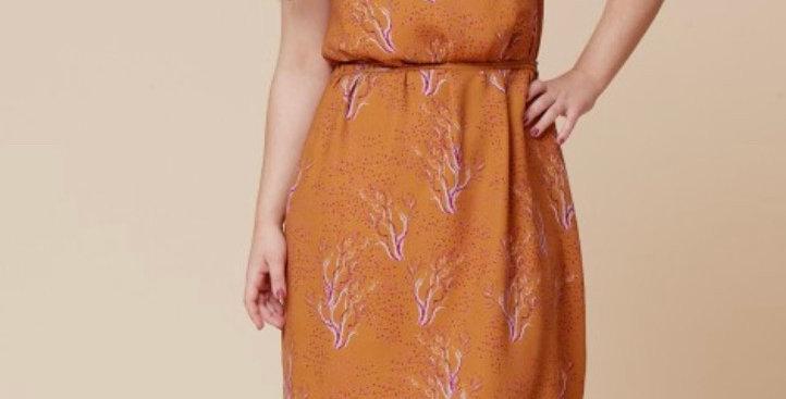 deer and doe pensee  dress printed pattern