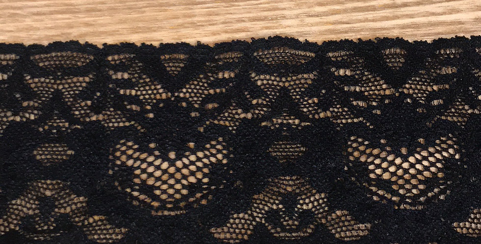 My Valentine Black Stretch Lace....