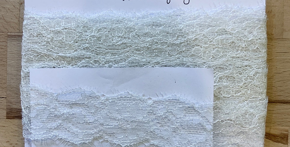 Delicate French Ivory Lace Remnant