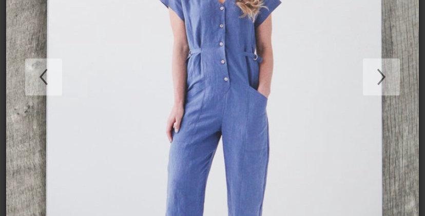 true bias yari jumpsuit printed pattern