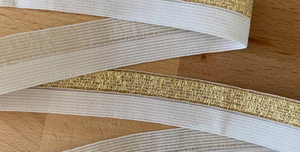Gold shimmer fold over elastic