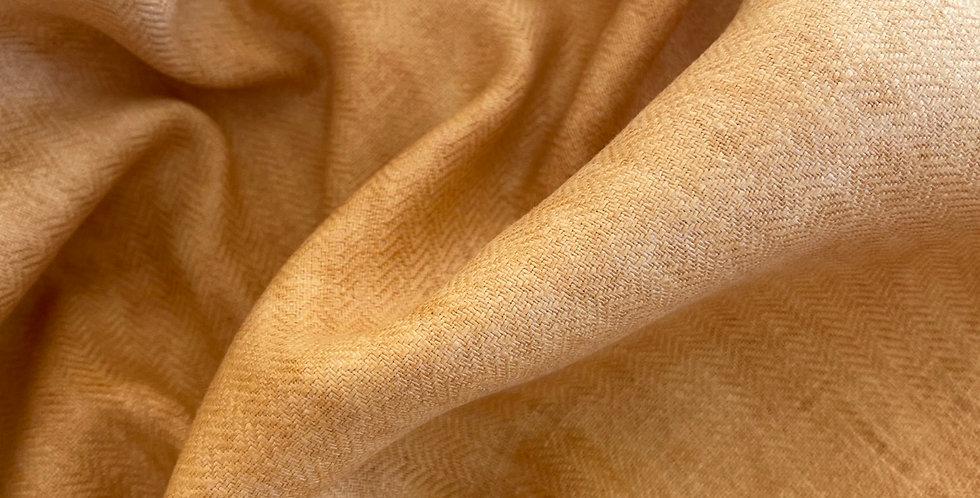 Herringbone linen amber