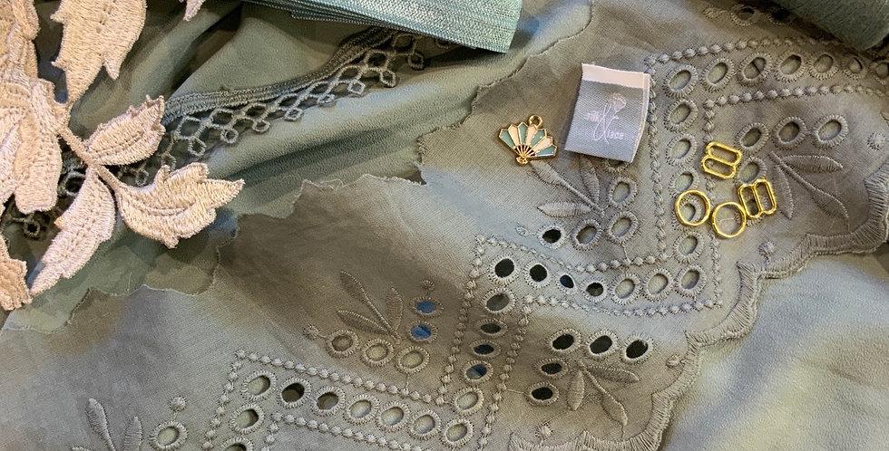 Duck Egg Blue Silk Camisole / Slip Kit...