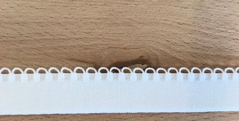 White Picot Loop Edge Elastic...