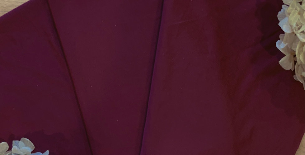Maroon Silky Lingerie Spandex 50cm Piece...