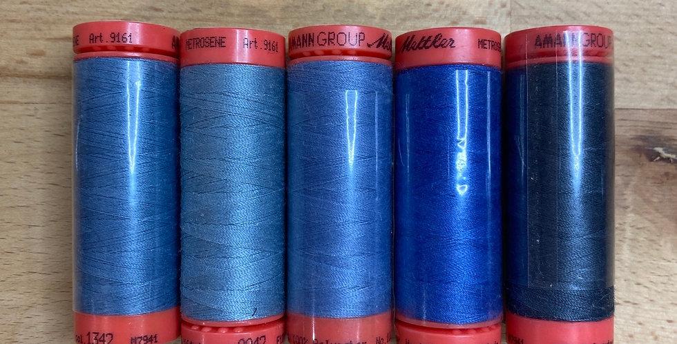 Metrosene Mixed Blue Thread Pack #7