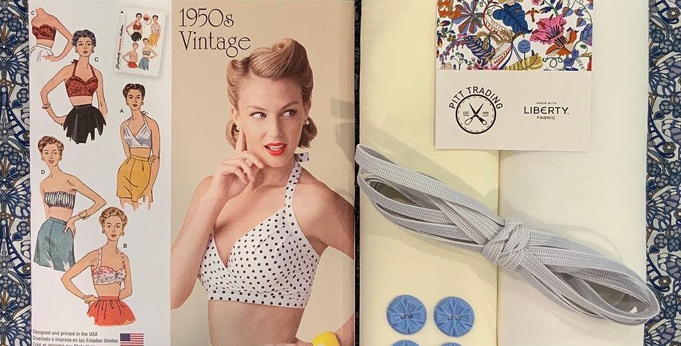 Liberty Morris Butterfly Vintage Bra Top Kit...