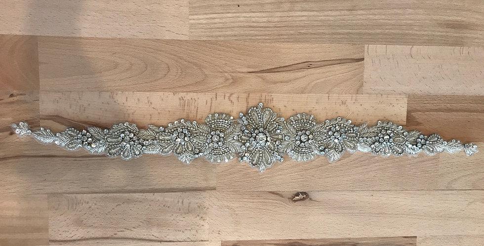 Madeline bridal belt motif