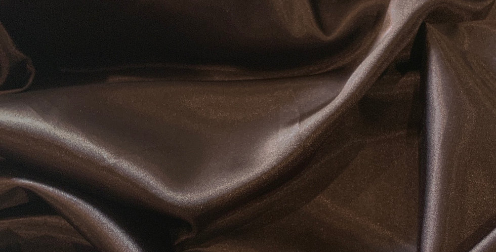 Chocolate Brown Polyester Stretch Satin...