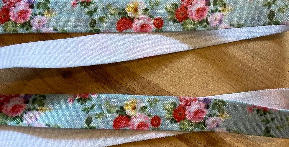 Summer floral foldover elastic