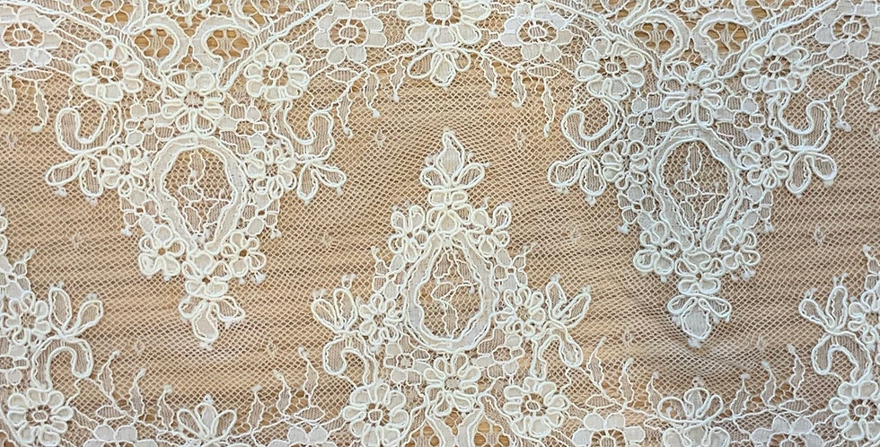 Bella Ivory Chantilly Corded Lace....