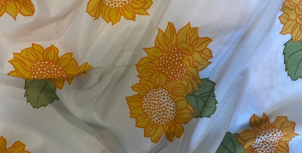 vintage sunflower crimplene remnant