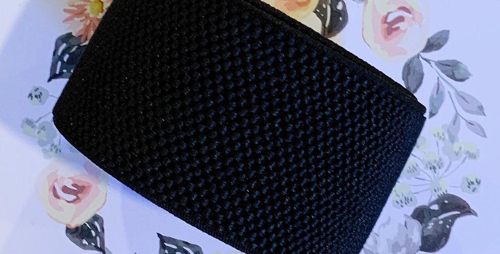 Black Textured Belt Elastic 2mtr Roll...