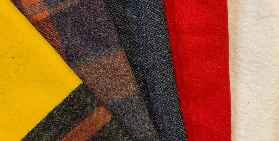 Assorted Bundle of 5 Small Wool Suiting Off Cuts..#1