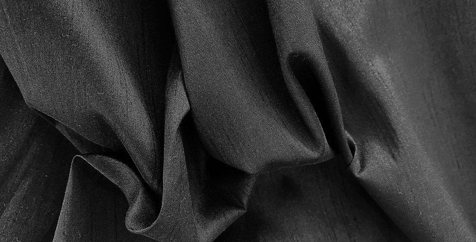 Black lightweight polyester dupion