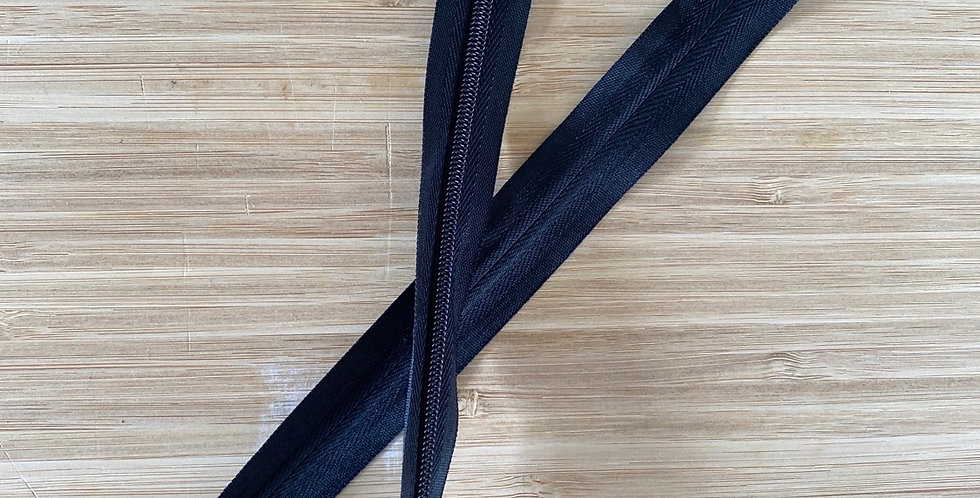 black 55cm invisible zip