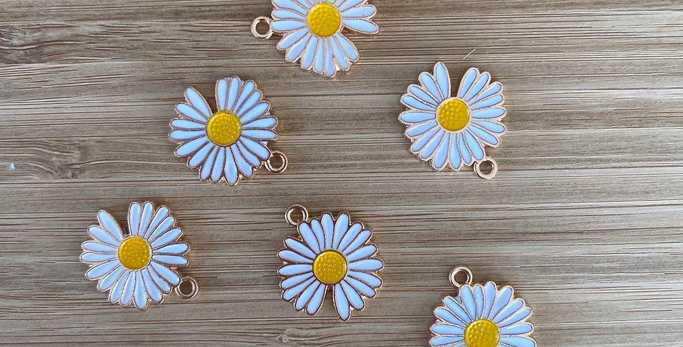 White sunflower charm