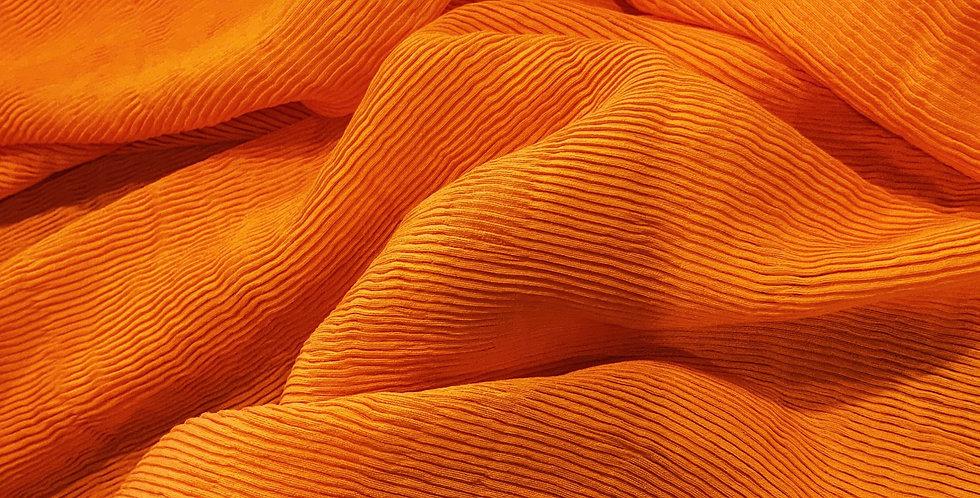 Orange Citrus Fine Pleated Polyester...