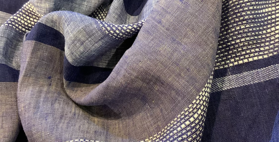Indigo Stripes Linen...