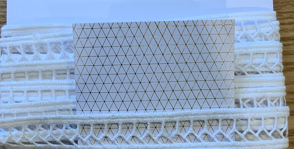 White Insertion Lace Trim...