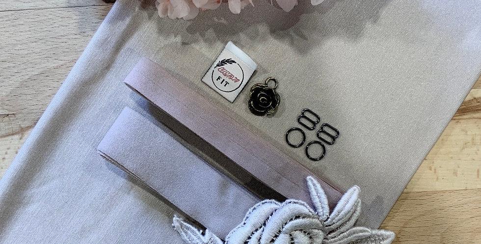 Hand dyed Mocha Pink Lily Bralette Kit