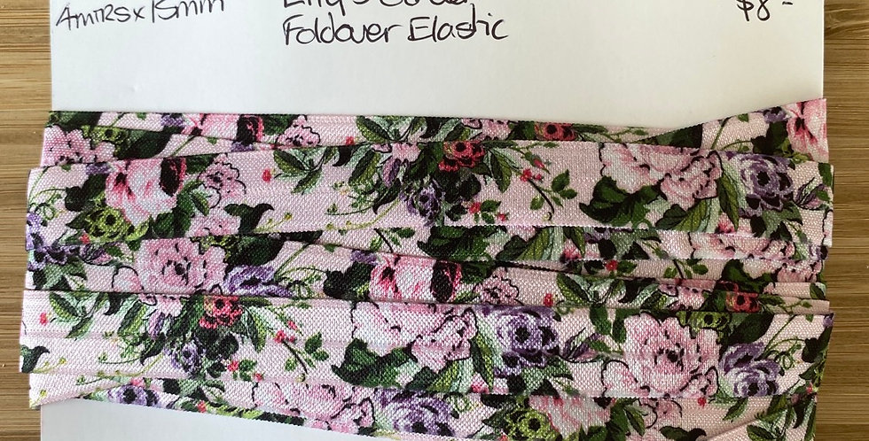 lily's garden printed foldover elastic remnant